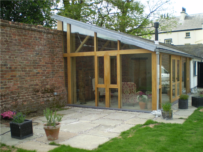 Ad joinery and building glass fronted garden room for Best garden rooms uk