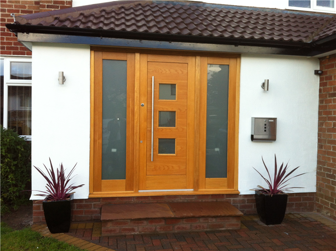 Ad joinery and building oak front door double side panel for Oak front doors