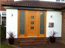 Oak Front Door & Double Side Panel
